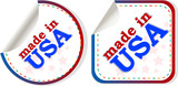 stickers set Made in USA, web icon
