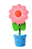 Floppy Wooden Flower Toy in a pot
