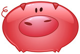 Fototapety Pig cartoon icon
