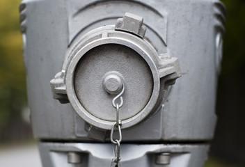 Modern steel hydrant outdoors