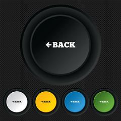 Arrow sign icon. Back button. Navigation symbol