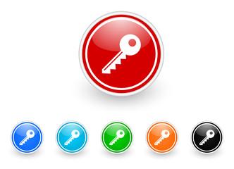 key icon vector set