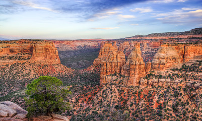 Colorado National Monument Scenic Landscape at Dusk