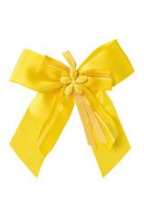 Gelbe Schleife (freigestellt)
