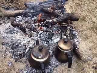 Odun Ateşinde Çay Demleme
