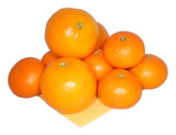 few tangerines on napkin