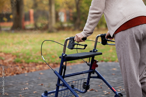 Disabled woman on a walk