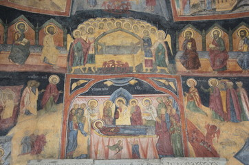 Fresco of the Sinaia Monastery, Romania