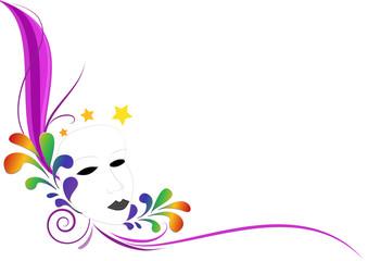 Sfondo colorato festa Maschera carnevale