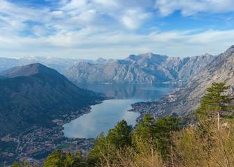 Top-view of Kotor and Bay of Kotor