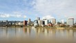 Clouds and Sky City Skyline Timelapse in Portland Oregon