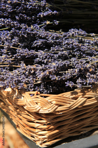 Lavender in a wicker basket