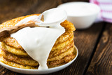 Pancake. Pancakes stack, traditional Russian pancakes - blini