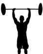 Man Weight Lifter with Weight Above Head