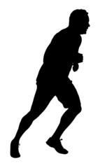 Male Marathon Runner Silhouette
