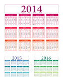 Calendar vector 2014 2015 2016 illustration v.10