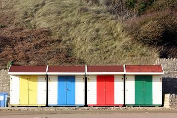 huts on the sea shore