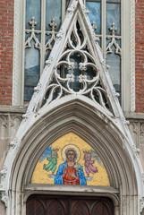 Finestre e facciata della Chiesa di Santa Maria degli Angeli