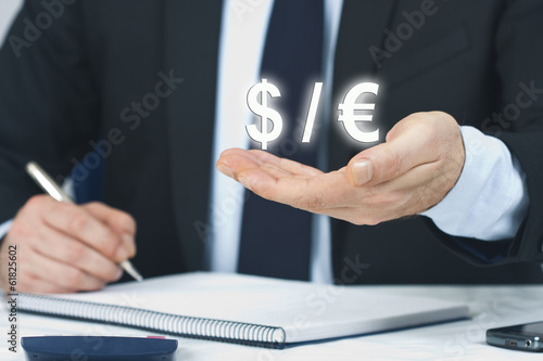 Foreground lifestyle businessman in suit and tie