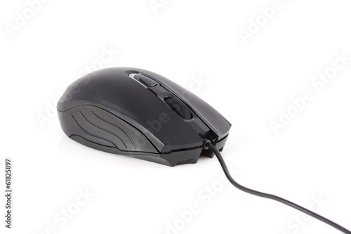 Optical mouse isolated on white background