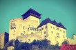 Slovakia - Trencin castle. Cross processed color tone.