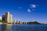 View on Honolulu city, Waikiki Beach, Hawaii