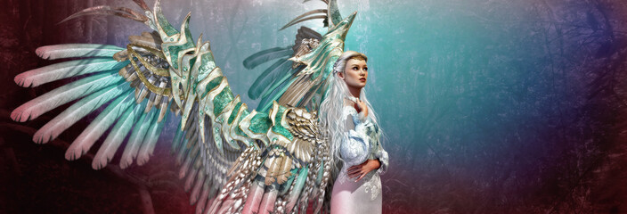 Light Angel 3d CG