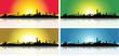 Colorful San Francisco Skyline Set