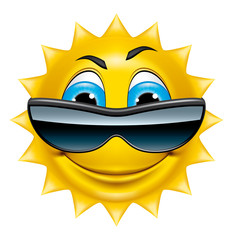 Sun character with sunglasses