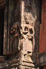 Beautiful detail of Chau Say Thevoda Castle, Cambodia