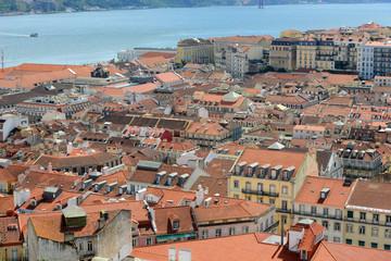 Alfama District and Tejo River from Castle of São Jorge, Lisbon