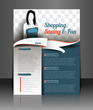 Shopping Center Store Back Flyer Template