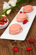 Strawberry Macaroons