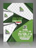 Fototapety Golf Tournament Center Front Flyer Template