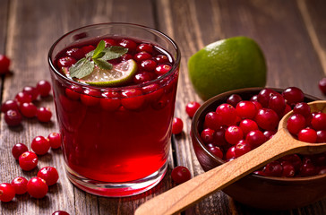 Fresh cranberry drink