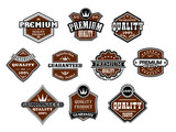 Collection of retro premium and quality labels