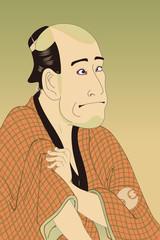 東洲斎写楽 嵐竜蔵の金貸石部金吉のイラスト