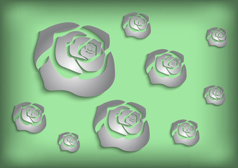 Paper roses background