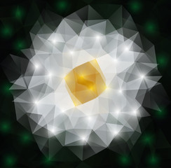 Abstract polygonal flower