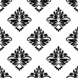 Geometric arabesque pattern with floral motif