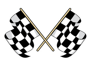 Checkered flags icon for motorsports design