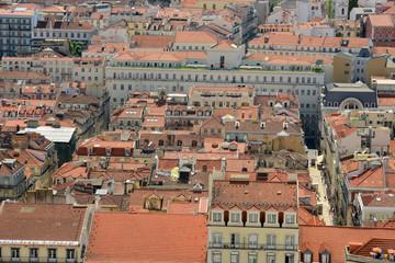Baixa Historic District from Castle of São Jorge in Lisbon