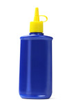 Blue Plastic Oil Bottle