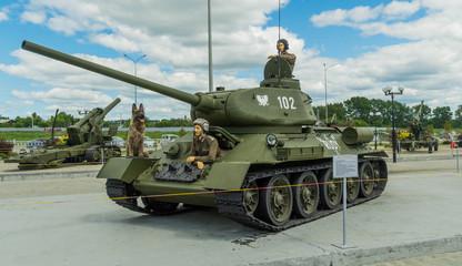 танк Т-34 экспонат военного музея