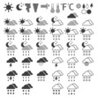 Weather icons on a White background