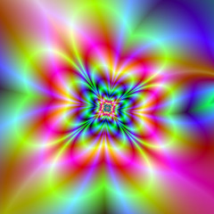 Psychedelic Four Leaf Clover