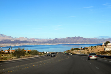Road to the Mead Lake, Nevada