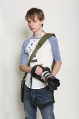 Young Male Photo Journalist
