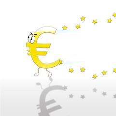 Euro corriendo.