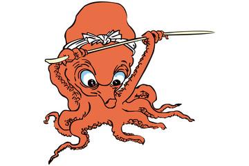 歌川国芳 流行蛸のあそびのイメージイラスト